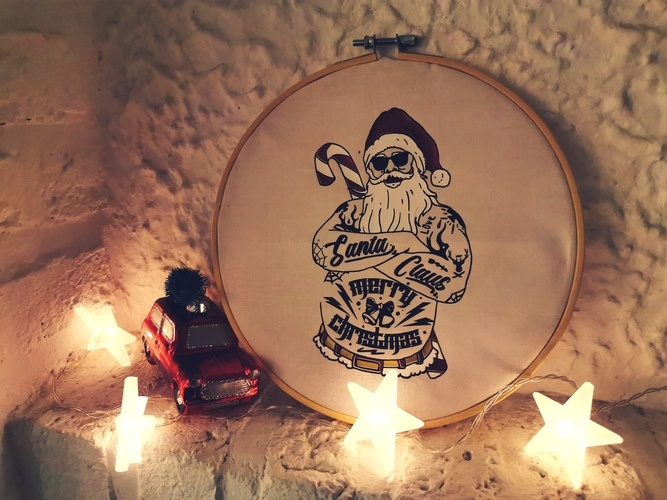 Makerist - Santa mal anders - Textilgestaltung - 2