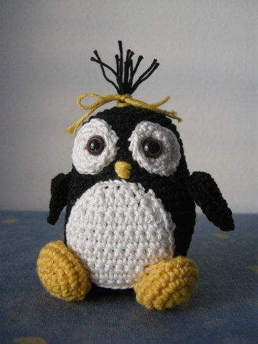 Makerist - Pinguin-Mädchen - Häkelprojekte - 1