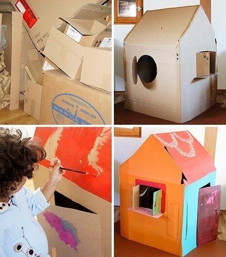 Makerist - Spielhaus aus Karton - DIY-Projekte - 1