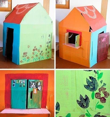 Makerist - Spielhaus aus Karton - DIY-Projekte - 2