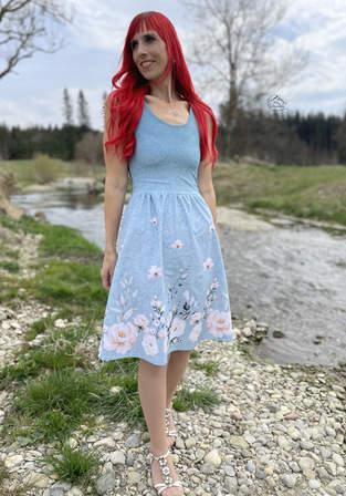 Kleid Scilla aus Bordürenjersey