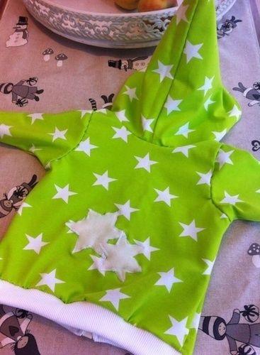 Makerist - Zipfel-Kapuzen-Zwergen-Jacke für den Neffen aus tollem Strernenjersey von Karina - Nähprojekte - 2