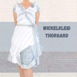 Makerist - Wickelkleid Thorgard Gr. 34-46 aus Strickstoff mit Spitze - 1