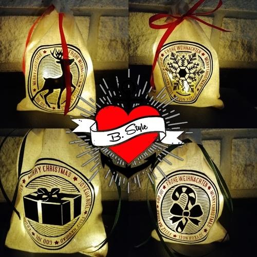 Makerist - Weihnachtsbuttons auf einem Lichtbeutel - Textilgestaltung - 1