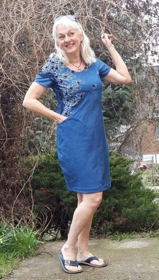 Makerist - Azalee Gr.38 als Sommerkleid aus Jeans- Chambray - 1