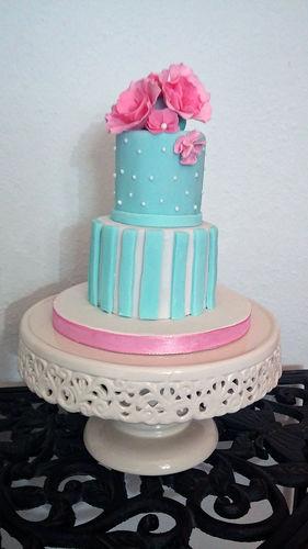 Makerist - Mini Hochzeitstorte - Torten, Cake Pops und Cupcakes - 1