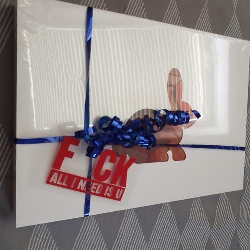 """Makerist - FCK hab ich mal als """"Liebeserklärung"""" für mein Mann als Geschenkanhänger gemacht - DIY-Projekte - 1"""