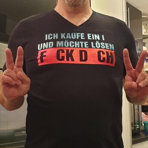Makerist - FCK DCH wollte mein Mann direkt auf sein Shirt - Textilgestaltung - 1