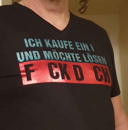 Makerist - FCK DCH wollte mein Mann direkt auf sein Shirt - Textilgestaltung - 3