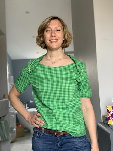 Makerist - Blouse «11th of february» en coton vichy vert - Créations de couture - 1