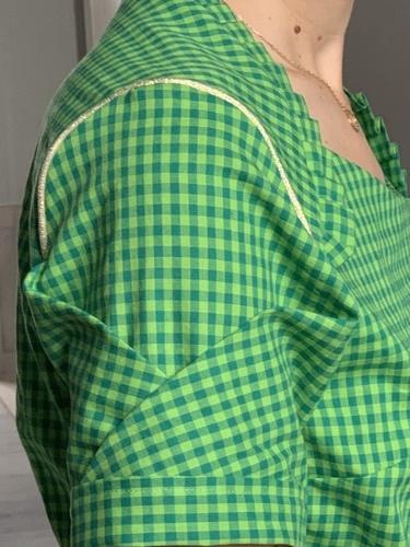 Makerist - Blouse «11th of february» en coton vichy vert - Créations de couture - 2