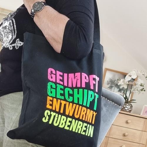 Makerist - Baumwolltasche in Neon für meine Mama gemacht - Textilgestaltung - 2