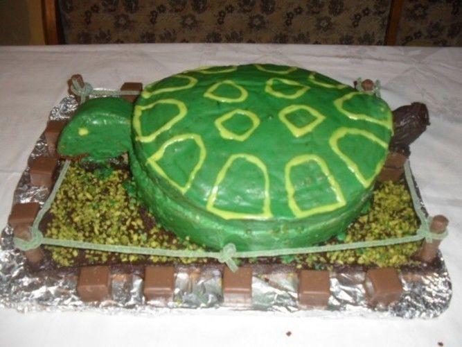 Makerist - Schildkrötentorte   Die Torte war für einen lieben Arbeitskollegen der Schildkrötenfan ist. - Torten, Cake Pops und Cupcakes - 1