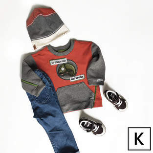 Makerist - Sweater Raspberry von Anniway Schnittmuster und Stickdatei Chamäleon von Krullenboll - 1