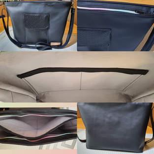 Tablet-Tasche aus Kunstleder, Unisex