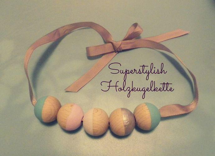 Makerist - Superstylish Holzkugelkette! - DIY-Projekte - 1
