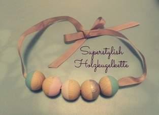 Makerist - Superstylish Holzkugelkette! - 1