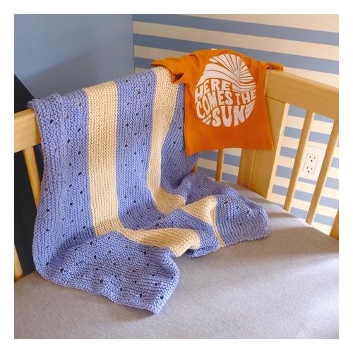 Makerist - Couverture lignée bébé - Créations de tricot - 1