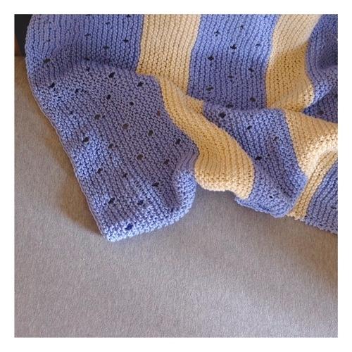 Makerist - Couverture lignée bébé - Créations de tricot - 2