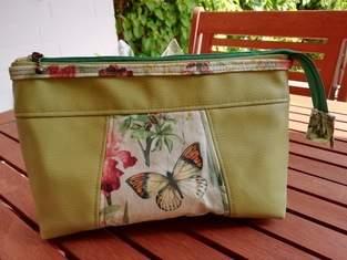Makerist - Little Hira Bag, Kunstleder ,Baumwollstoff Canvas, nur für mich - 1
