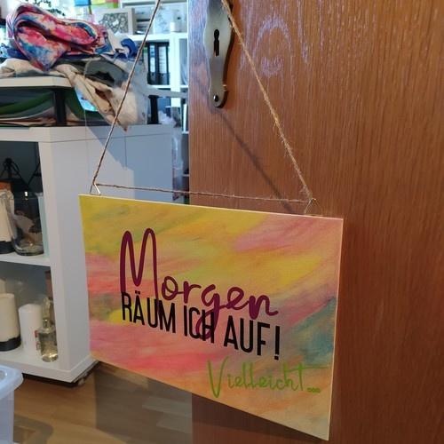 """Makerist - Plottdatei """"Morgen räum ich auf"""" von B.Style - DIY-Projekte - 1"""