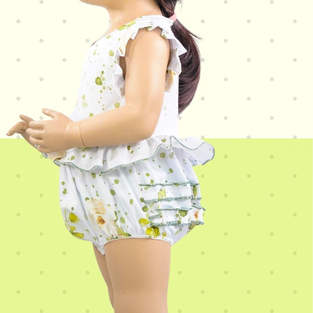 Makerist - Playsuit Annie for babies with jersey or woven fabrics - 1