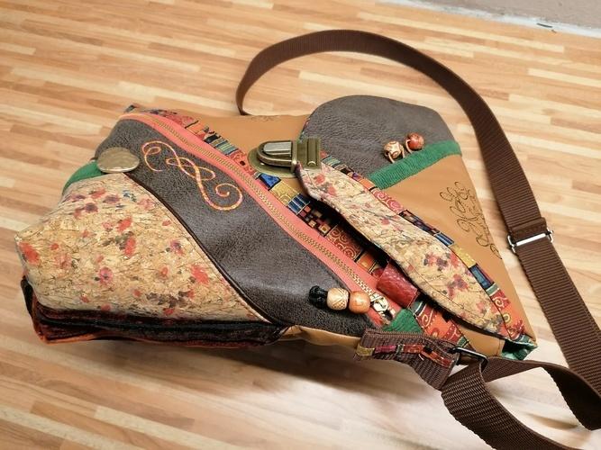 Makerist - Boho - Tasche, Materialmix und viel Tüdel :-) - Textilgestaltung - 1