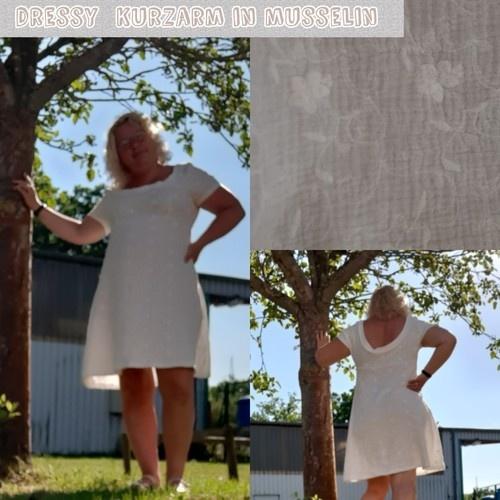 Makerist - Kleid Dressy ohne Kellerfalte Kurzarm und tiefer Rückenausschnitt in Musselin  - Nähprojekte - 1