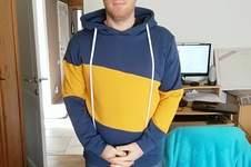 Makerist - SlashMan T.L - sweat molleton bleu et jaune - 1