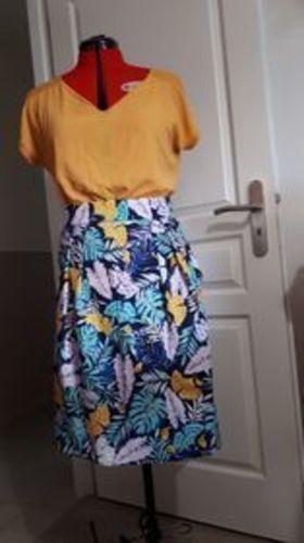 Makerist - Ma p'tite jupe fraicheur en popeline de coton et elle est pour moi.  - #makeristalamaison - 1