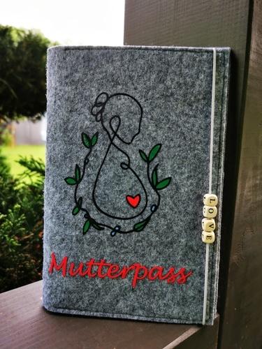 Makerist - Mutterpasshülle aus Filz - Filzprojekte - 1