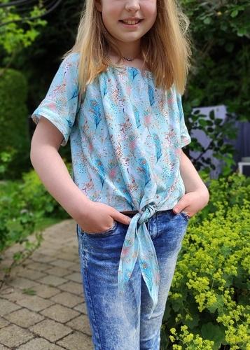 Makerist - Marlee Kids Carmenbluse aus Jersey - Nähprojekte - 1
