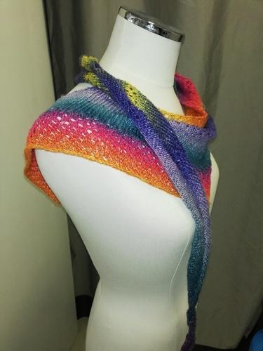 Makerist - Châle coloré estival  - Créations de tricot - 1