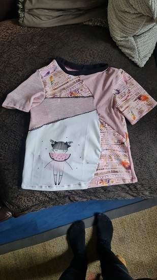 Patchwork shirt von moonsurfer für meine Tochter in 134 grösse