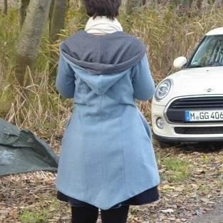 Makerist - Damenmantel mit großer Kapuze aus Fleece oder Walk - 1