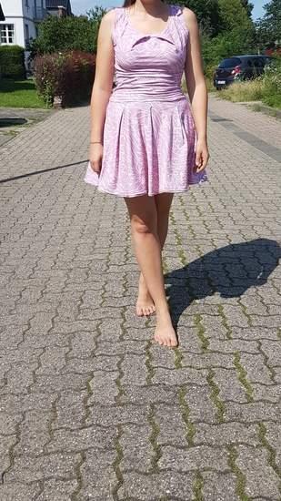 Makerist - Pleat Dress - hübsches Kleidchen in altrosa - 1