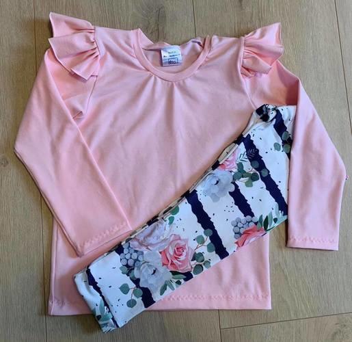 Makerist - Set aus Shirt und Leggins in Rose :) - Nähprojekte - 1