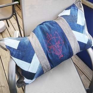 Makerist - Upcycled: Jeans => Kissen  - 1