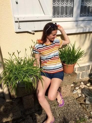 Makerist - T-Shirt Frau TINA 🌈🧵 - Créations de couture - 1