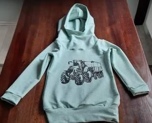Makerist - Mini Mister Hoodie mit Traktorplott - 1