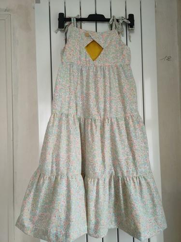 Makerist - Robe d'été Hélèna maxi en coton fin pour Albane ma petite fille de 9 ans - Créations de couture - 2