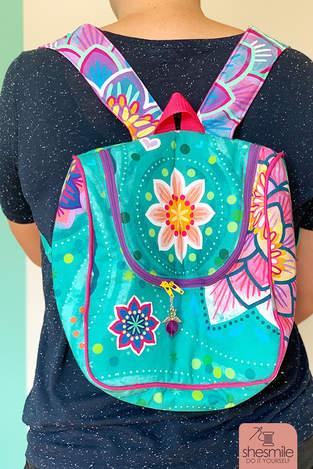 Makerist - Rucksack KlappAuf aus Bine Brändle Stoffen Größe M - 1