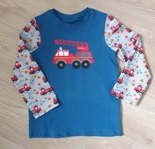 Makerist - Jersey Pullover für kleinen Feuerwehrmann - 1