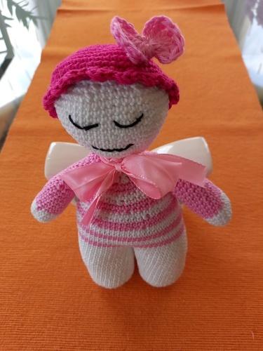 Makerist - Babypüppchen aus Baumwolle, Geschenk für einen neuen Erdenbürger - Häkelprojekte - 1