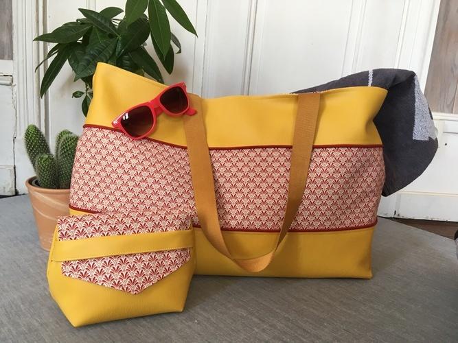 Makerist - Sac Cabas et trousse Sandra de Dodynette  - Créations de couture - 1