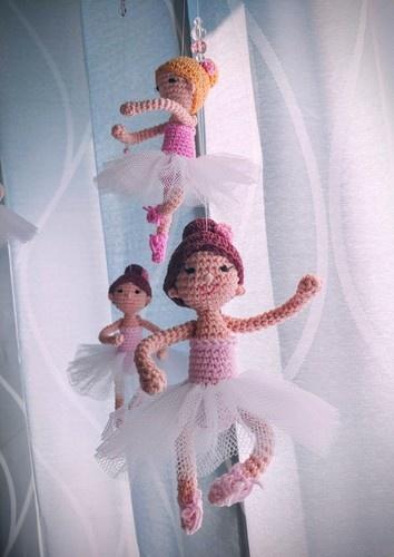 """Makerist - Mobile """"Ballerina"""" - Häkelprojekte - 1"""