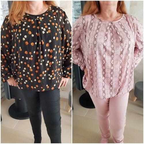 Makerist - Chemisier SUKI en 2 styles différents : effet blouse et jersey - #makeristalamaison - 3