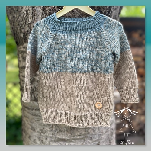 Makerist - Baby-Raglan-Pulli - Strickprojekte - 1