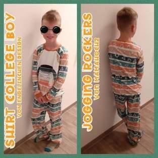 Makerist - Collge Boy Shirt und Jogging Rocker mamahoch2  - 1