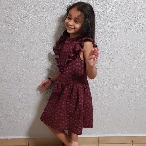 Makerist - Robe multi dans un coton broder, pour une petite fille en taille 7 ans  - Créations de couture - 3
